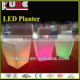 Infrared control led light illuminated flower pot