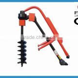 manual lowes hydraulic fence tractor mini post hole digger