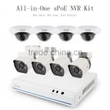 Zmodo cctv 8 Channel 720p simplified POE NVR system Generation 2 with IP security Cameras