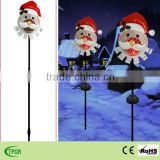 Christmas decoration metal santa solar lantern lights christmas light