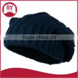 Thin cable stretched knit fabric Skullie Cable Beanie