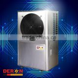 kitchen water heater air to water heat pump r407c air source heat exchanger with fan for hot water room heating cooling