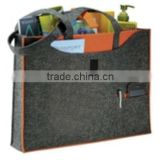 "100% Recycled Felt Business Promo Tote Bag by Owl - 16""w x 11.5""h x 2.75""d"