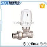 ART.5034 High quality china supplier wireless automatic straight digital nickel brass water thermostatic radiator valve for hvac