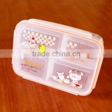 4 compartment leakproof lunch box for kids
