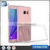 Top Selling Ultra Slim Crystal Clear Acrylic Hard Back Soft TPU Bumper Case for Samsung Galaxy Note 6 Clear Case China Wholesale