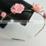 American handmade flower hair hoop pearl headband wedding banquet necessary small hairbands hair accessories FHHBC3001