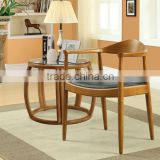 The Kennedy President Election Replica Wood Hans Wegner chair designer wood dining chair