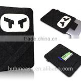 Black color 9.7 inch Wool Felt Tablet Case Cute Cartoon Naruto Bag Tablet Sleeve Tablet Pouch