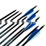 China plastic feather aluminum arrow shafts for archery arrows
