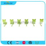 Green Panda Shape Household Wall Mounted Metal Pothook with 6 Hooks Used in Bedroom, Kitchen and Bathroom XQ1359