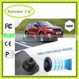 Fish Eye Lens HD Car Camera Big Screen Rear View Mirror Anti-glare blue glass mirror H.264 car camera 168p