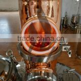 High quality copper commercial alcohol distillation column distiller with stainless steel tank