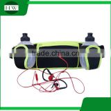 custom ventilation waterproof reflective led cell mobile phone gym sports running belt waist bag pack with water bottle