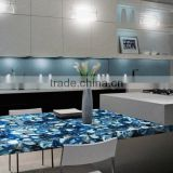latest natural best price semi-precious stone tables natural fossil stone tables