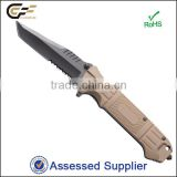 Black Coated Tactical Tanto Blade Folding Knife Survival, Black Finish with Fibre Glass Handle