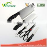 WCA067 5 pcs set Kitchen Knives with scissors and knife sharpener stainless steel blade with ABS handle Wholesale