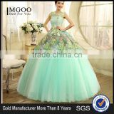 MGOO Hot Sale Designer Dress For Women prom Long Satin Evening Gown Beautiful Applique Dress L000123