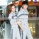 W60145V 2015 Unisex Look fleece hooded sportswear men's sport suit men's clothes men and women lovers set Long-sleeved casual