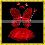 factory sale red color costume butterfly wings