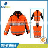 High quality reflective fluorescent safety jacket