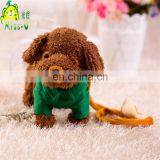 Wholesale High Quality Lovely Plush Dog Electronic Toys With Stylish Well-dressed For Babies
