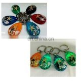 Luminous Stone Accessories Natural Starfish Imitation Amber Car Pendant Accessory Key Chain Ring