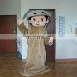 Grey clothes Arab men mascot costumes