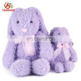 Wholesale Cute Plush Rabbit Purple Long Ear Plush Animal Stuffed Rabbit Toys