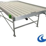 Agricultural System Table Ebb And Flow Rolling Benches( with gray/white tray)