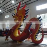 High quality new PVC inflatable zenith dragon, giant inflatable red dragon