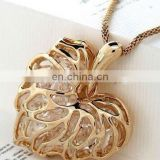 Gold Plated Heart Pendant With Necklace