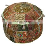 Vintage Indian Handmade Pure Fabric Embroidered Patchwork Ottoman Poufs Online