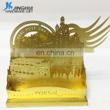 Custom etching gold brass art crafts DIY building home decor 3D metal puzzle model