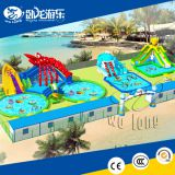 Giant voIcano inflatable water slide, inflatable water slide pool, water pool slide