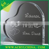 Wholesale Heart Shaped Acrylic Wedding Decorations Celebration Decoration