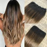 Human Hair 18 Inches Long Lasting Chocolate Cuticle Virgin Hair Weave No Damage