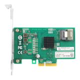 Linkrea 4 Port 6Gb/s PCIe x4 to SATA 3 RAID Controller Card