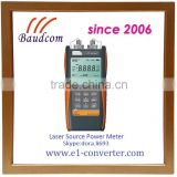 Handheld laser power meter with 2 wavelength light source