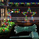 12m 100 bulbs LED string light for Christmas holiday decoration with solar power