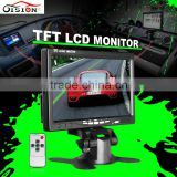 Digital Screen 7inch LCD Monitor With AV Input 2CH Video Color Monitor For Reverse Car Parking