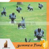 bronze teeming bunnies outdoor sculpture