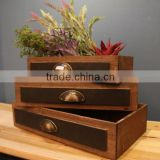 zakka vintage wooden box planter wood pots