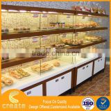 Guangdong bread display cabinet shelves showcase for bread display