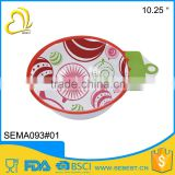 cheap custom design dinnerware round melamine christmas salad bowl