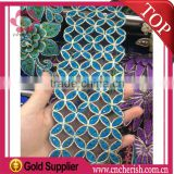 Good quality cheap price blue green yellow cord lace fabric accessories for fashion clothes