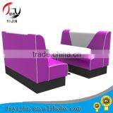 High Quality Wood Standard Booth with Leather Padded Back Seat