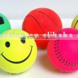 2014 popular kinds of Fluorescent color rubber ball toys,soft rubber football basketball baseball tennis ball2014 popular kinds