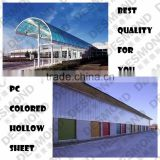 2 Layers Polycarbonate Sheet PC Sheet Sun Sheet Plastic Building Material 10 Years Gurantee With UV Finish