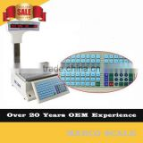 Table top 30kg label printing cash register barcode scale